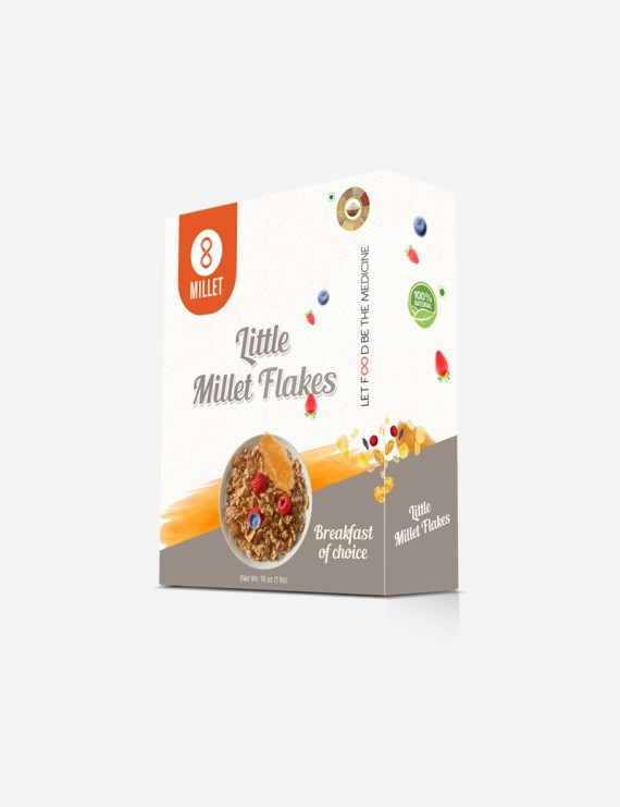 Little Millet Flakes (1 lb pack)